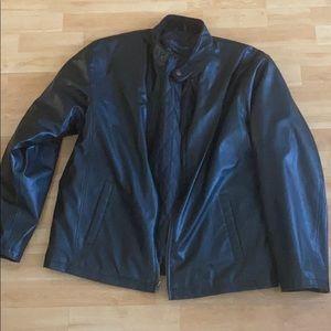 SERGIOBINI Men's Faux Leather Jacket size large